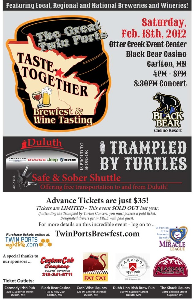 The Great Twin Ports Taste-Together Brewfest & Wine Tasting