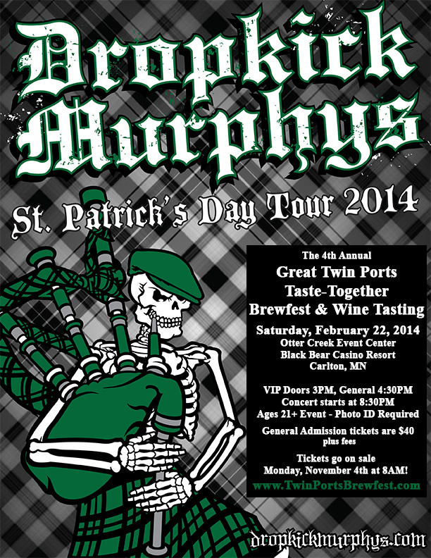 Dropkick Murphys to play 2014 Brewfest